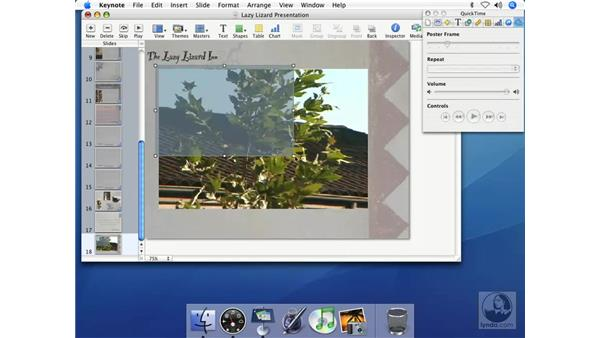 Adding QuickTime movies to presentations: Keynote 2 Essential Training