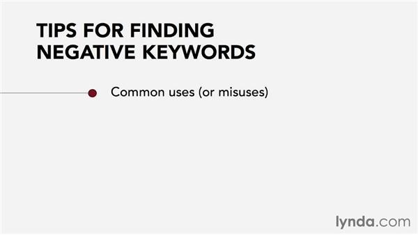 Selecting negative keywords: Pay-Per-Click Fundamentals