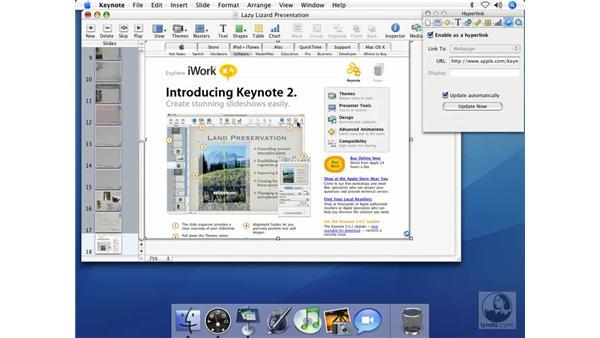 Adding Safari snapshots: Keynote 2 Essential Training