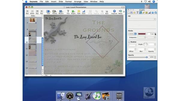 Editing graphics: Keynote 2 Essential Training