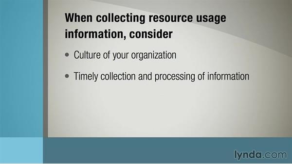 Collecting resource-usage information: Managing Project Budgets