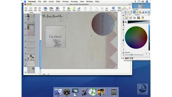 Drawing and editing shapes: Keynote 2 Essential Training