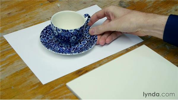 Pre-instruction drawing of a cup: Foundations of Drawing