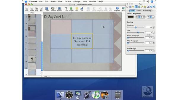 Formatting the table: Keynote 2 Essential Training