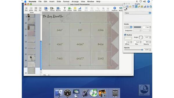 Adding graphics to a table: Keynote 2 Essential Training