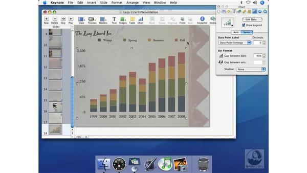 Creating column charts: Keynote 2 Essential Training