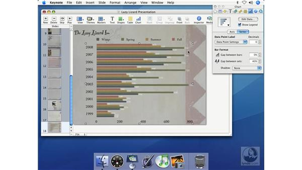 Creating bar charts: Keynote 2 Essential Training