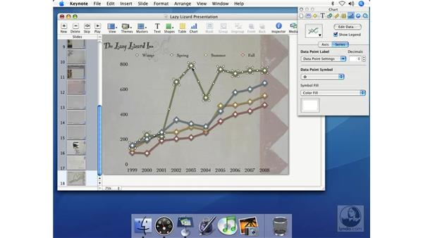 Creating line charts: Keynote 2 Essential Training