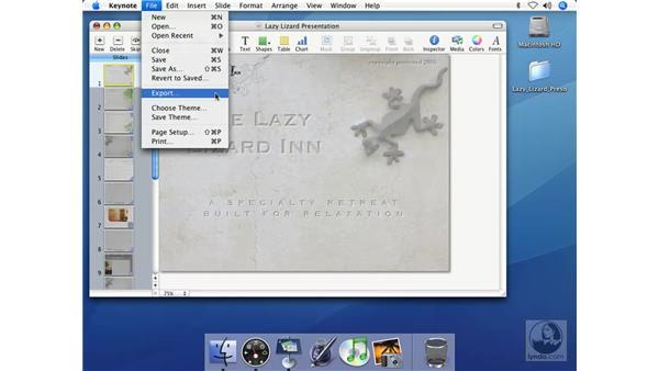 Exporting PDF files: Keynote 2 Essential Training