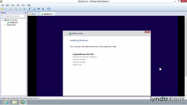 Using Easy Install: Installing Windows 8 in VMware Workstation