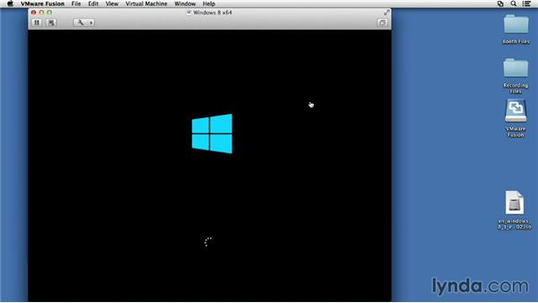 Selecting advanced installation options: Installing Windows 8 in VMware Fusion