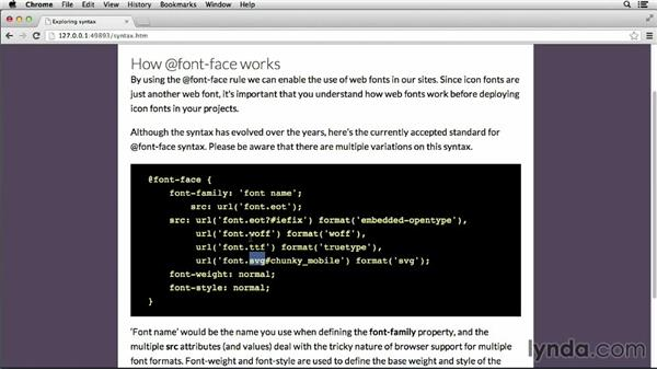 @font-face syntax: Deploying Icon Fonts for the Web