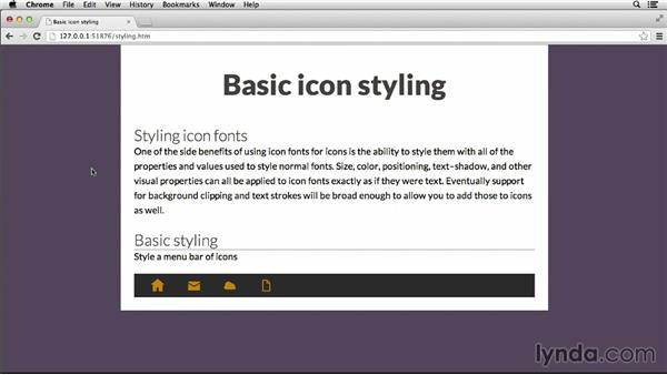Basic icon styling: Deploying Icon Fonts for the Web