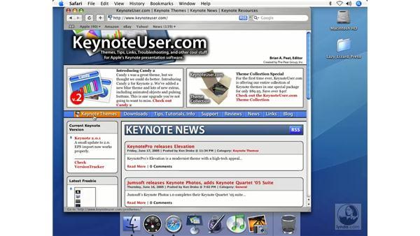 Web resources: Keynote 2 Essential Training