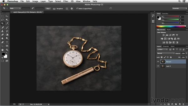 Setting up your file for nondestructive editing in Photoshop: Processing Product Photos with Photoshop