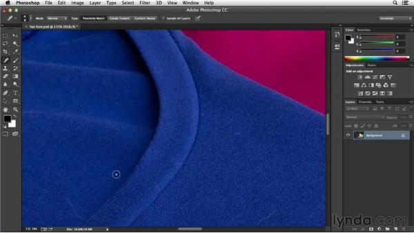Cleaning up your image with healing tools: Processing Product Photos with Photoshop