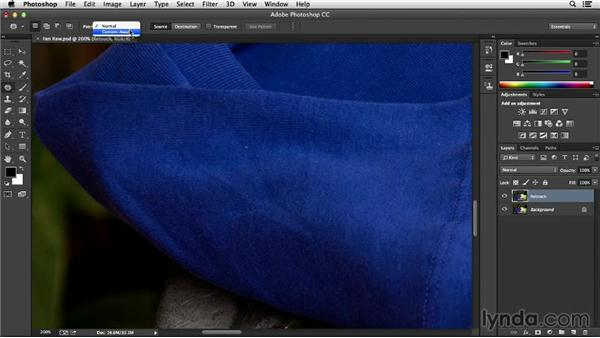 Using the Content-Aware Patch and Spot Healing tools: Processing Product Photos with Photoshop