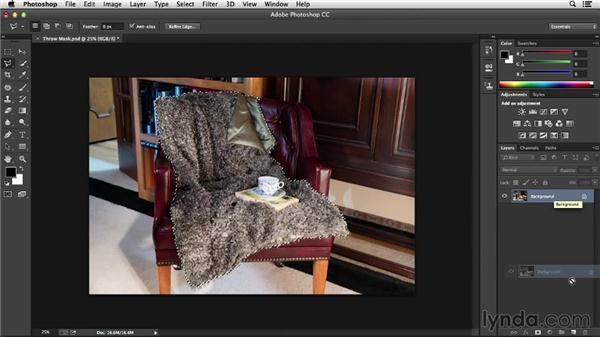Creating a layer mask from a selection: Processing Product Photos with Photoshop