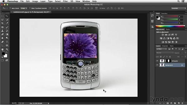 Using the original source to create a shadow: Processing Product Photos with Photoshop
