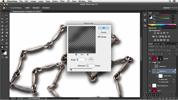Adding realism to your shadow with filters: Processing Product Photos with Photoshop
