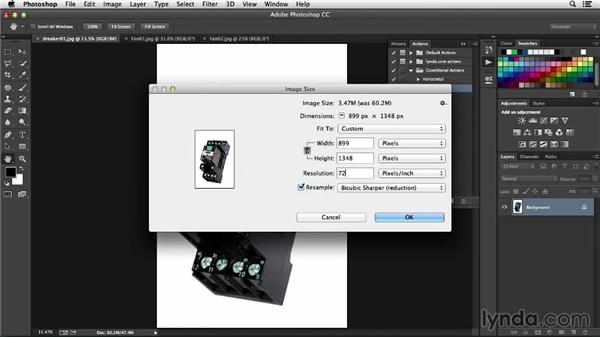Using conditional actions in Photoshop: Processing Product Photos with Photoshop