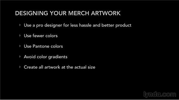 Designing merch artwork: Selling Music Merchandise