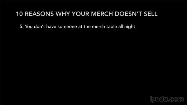 Why your merch doesn't sell: Selling Music Merchandise