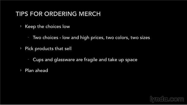 Tips for ordering merch: Selling Music Merchandise