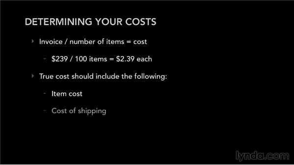Determining your costs: Selling Music Merchandise
