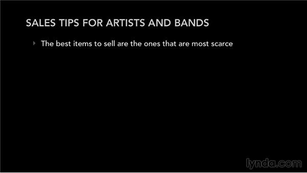 Sales tips for artists and bands: Selling Music Merchandise