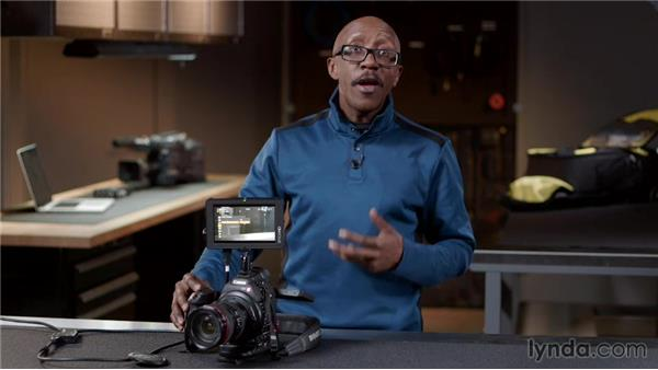 Checking out the C100 menu options: Pro Video Tips
