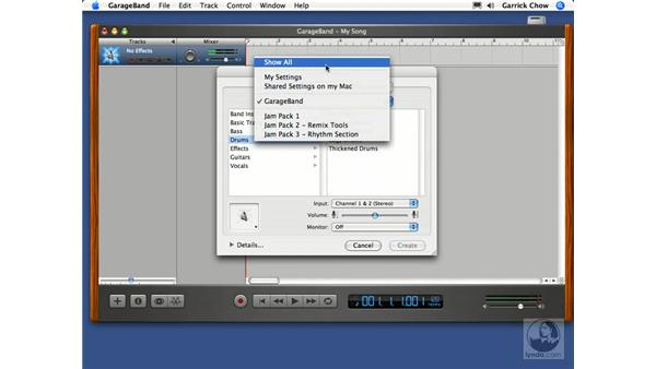 Adding tracks: GarageBand 2 Essential Training