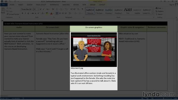 Understanding text-based storyboards: Instructional Design Essentials: Storyboarding