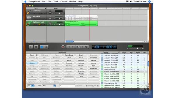 Real and software loops: GarageBand 2 Essential Training