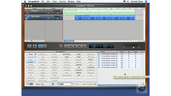 Building a song: GarageBand 2 Essential Training