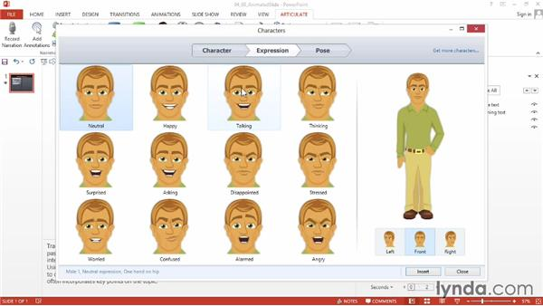 Prototyping an animated-content slide: Instructional Design Essentials: Storyboarding