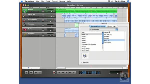 Transposing loops: GarageBand 2 Essential Training
