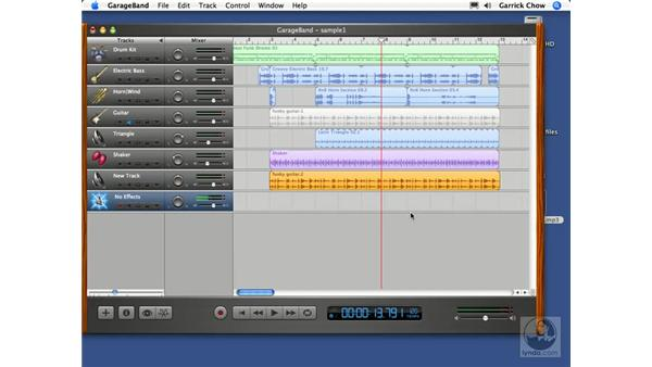 Importing audio tracks: GarageBand 2 Essential Training