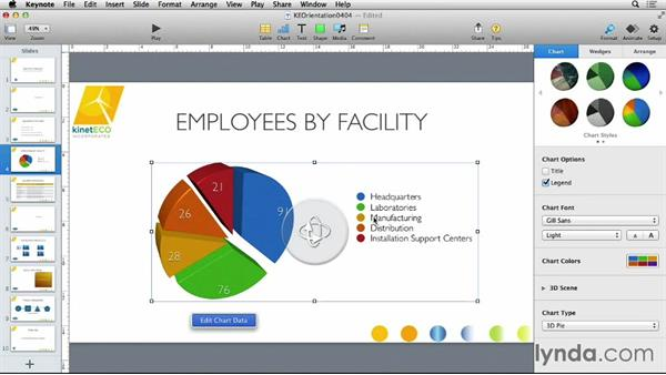 Working with chart data: Keynote 6 Essential Training