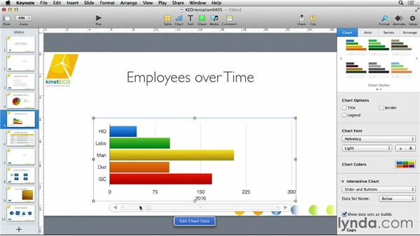 Using interactive charts: Keynote 6 Essential Training
