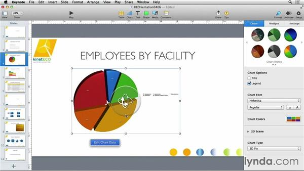 Copying charts from Numbers: Keynote 6 Essential Training