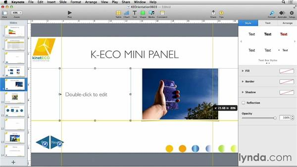 Using slide and master guides: Keynote 6 Essential Training