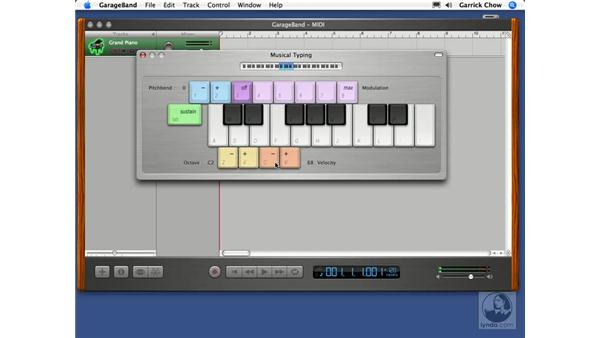 Musical typing: GarageBand 2 Essential Training