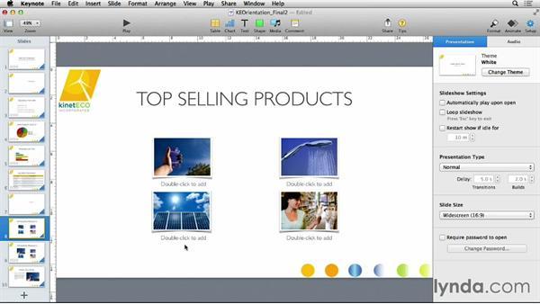 Adding comments to a presentation: Keynote 6 Essential Training