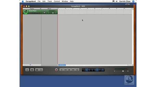Recording a software instrument track: GarageBand 2 Essential Training