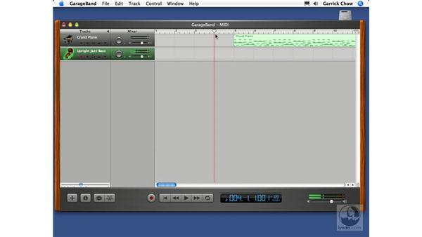 Recording another track: GarageBand 2 Essential Training