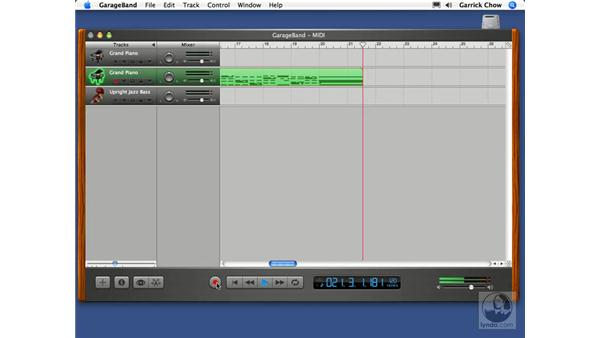Joining regions together: GarageBand 2 Essential Training