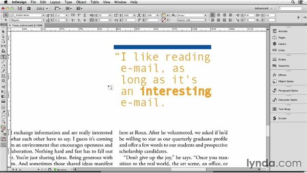 139 Faking bold and italic when the font family doesn't have one: InDesign Secrets
