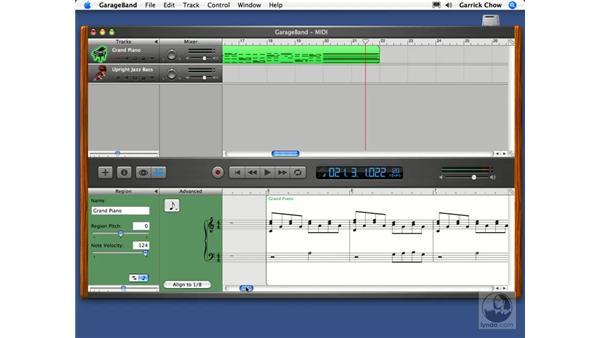 MIDI track editing pt. 2: GarageBand 2 Essential Training
