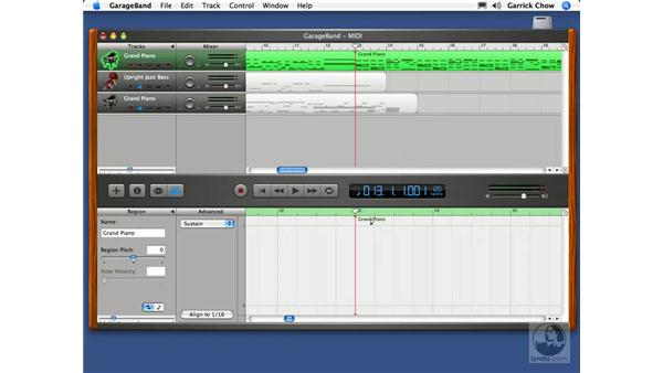 Advanced MIDI editing: GarageBand 2 Essential Training